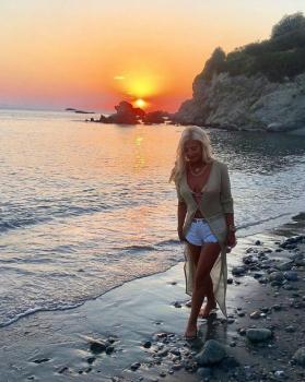 Gorgeous woman @marina_patoulis In our Casablanca gold and blue lurex dress 👗 shop now our Summer Sale Clearance up to -70% ➡️www.katiapanteli.com #katiapanteliswimwear #morethanaswimwear #collection #luxury #fashion #miami #sea #sun #summer #hot #resort #design #influencer #instagram #passion #designer #beach #beachlife#photography #photoshoot #photo #red #gold #green #swimwear #bikini #beautiful #mood 🔥💣