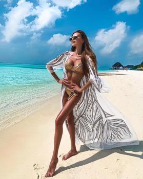 Baby girl @nazarovamur in our pink gold bikini 💕 available at www.katiapanteli.com #katiapanteli #katiapanteliswimwear #morethanaswimwear #beachlife #lifestyle #luxury #swimsuit #swimwear #sun #sea #resort #collection #fashion #design #bahamas #fashion #fashionblogger