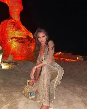 Super beautiful @carina 💫🔥wearing our acapulco gold lurex pants ,Casablanca gold lurex dress and  St Barths black lurex bikini 👙 shop now at www.katiapanteli.com #katiapanteliswimwear #morethanaswimwear #collection #luxury #fashion #ibiza #sea #sun #summer #hot #resort #design #influencer #instagram #passion #designer #beach #beachlife#photography #photoshoot #photo #red #gold #green #swimwear #bikini #beautiful #moodoftheday