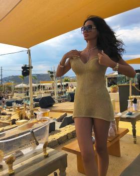 Gold lurex Dress @katiapanteliswimwear 👗#katiapanteli #katiapanteliswimwear #morethanaswimwear