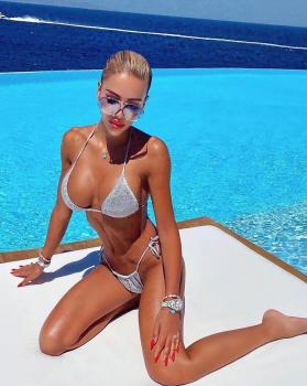 Hot as hell 🔥 @sylvie_klmn 🙌🏻In our silver St.Barths lurex bikini 👙 available at www.katiapanteli.com you can find our SS21 collection 👙 in exclusive boutiques all over the world 🌎#katiapanteliswimwear #morethanaswimwear #collection #luxury #fashion #ibiza #sea #sun #summer #hot #resort #design #influencer #instagram #passion #designer #beach #beachlife#photography #photoshoot #photo #mykonos #gold #green #swimwear #bikini #beautiful #moodoftheday